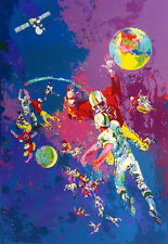 """LeRoy Neiman""""Satellite Football"""" Hand Signed SERIGRAPH on paper sports football"""