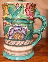 "Large Charlotte Rhead Art Deco Tube Lined Signed Vase 7.5""Tall (19 cm)"