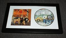 ALL TIME LOW SIGNED DON'T PANIC  FRAMED CD DISPLAY THE LAST YOUNG RENEGADE  COA