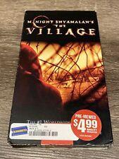 The Village (VHS, 2005) Blockbuster Pre-Viewed Vintage