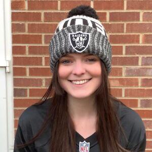 NFL Oakland Raiders Pom Beanie Hat