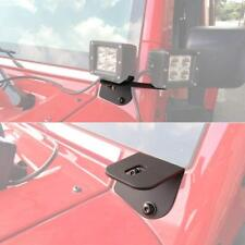 87-06 Jeep TJ YJ Windshield Mounting Corner Relocate Brackets Only for LED Light