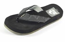 REEF Youth Juniors Thong Walking Sandals Maze Game Shoes US 11/12 Black $38