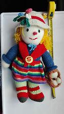 GRANDE HAND Knitted Country Girl Doll Soft da bambola di pezza 16 in (ca. 40.64 cm) SELETTORE A FUNGO