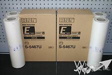 4 Genuine Riso S-5467 / S-2632 Masters Risograph MZ990 A3 LG HD87U Z E Type OEM