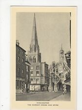 Chichester, The Market Cross & Spire, Tuck Postcard, A805