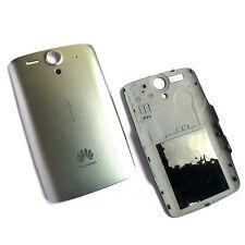 100% Original Huawei G300 Ascend trasera cubierta de batería Plata Carcasa Posterior Panel