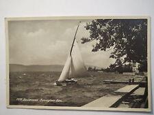 Bodensee - Bewegter See - 1930 - Segelboot / AK