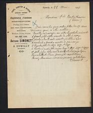 "RUMILLY (74) QUINCAILLERIE FERRONNERIE METAUX ""Antoine SIMONET"" en 1906"