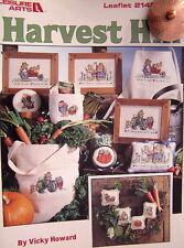 PATTERN cross stitch leaflet HARVEST HILL BUNNY RABBIT GARDEN TRACTOR FARM PLANT