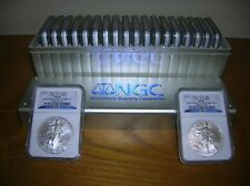 2010 SILVER EAGLES 20 COIN NGC MS69 BOX #1 TO #20 SET