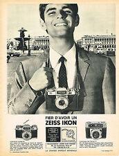 PUBLICITE ADVERTISING   1966   ZEISS IKON   appareil photo