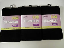 3 Curvation Textured Tights Tummy Smoother Microfiber,LOT OF 3 PAIR,CURVACEOUS 2
