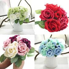 Artificial Silk Flowers Rose Bouquet Floral Wedding Hydrangea Party Home Decor