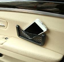 Auto Interior Storage Tuck Net String Bag Phone Holder Ticket Pocket For BMW