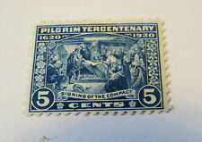 SCOTT #550 1920 PILGRIM TERCENTENARY ISSUE  5C MINT NEVER HINGED