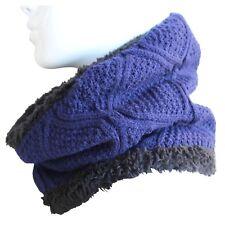 Bufanda Cuello De Punto Hombre Azul Negro Jersey Tubular Redondo Serado Polar 10
