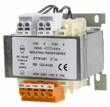 RS Pro 100VA Isolation Transformer, 15 â?? 400V ac Primary, 115V Secondary