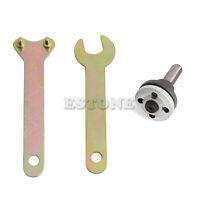 10mm Shank Drill Angle Grinder Mandrel Adaptor Set Disc Holder Nuts + 2 Wrench