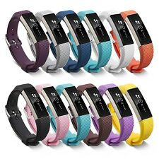 RAINBOW DOZEN 12PK Silicone Wristband Band Bracelet Strap For FITBIT ALTA & HR