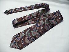 IRVINE PARK Gray Geometric Necktie Tie 100% Silk Hand in China
