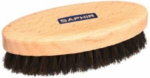 SAPHIR Oval Horsehair Brush black