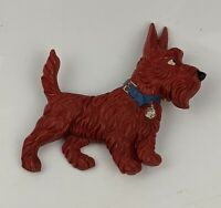 a Fine Large Scottie Dog Highland Terrier brooch - Early Plastic 1940's /1950's