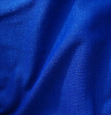 "Dress making fabric sample 12"" square Vintage material ROYAL BLUE Courtelle"