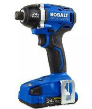 "Kobalt 24V Max Brushless 1/4"" Impact Driver 0672824 Battery/Charger Included"