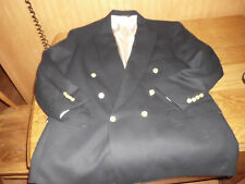 Racquet Club Wimbledon Collection 44 Navy Sports Coat Suit Blazer Gold Buttons