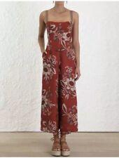 Zimmermann Juno Floral Print Linen Jumpsuit - Size 2