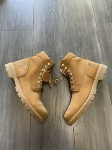 Timberland Men's Waterproof Work Boot Wheat Suede Leather 19079 A5259 Size 10.5