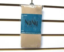 New Women's Nu & Nu Leg Wear Beige Opaque Tights With Spandex Size Queen Tall