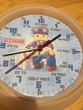 Dan Tdm teaching Clock -Learn To Tell The Time Personalised wall Clock xmas Gift