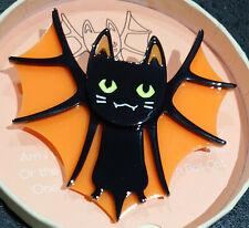 Brooch Halloween Collection Erstwilder Bat Cat