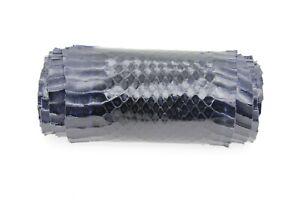 Real Snake Leather Snakeskin King Ratsnake Shoesmaking Craft Supply Navy Blue