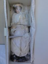 """Lenox 22"""" Victorian Bride Doll - First Creation by Lenox 1989 In Box"""
