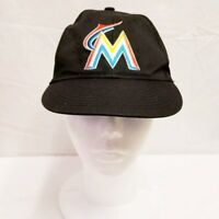 Miami Marlins Hat Youth Black Baseball Cap Embroidered Adjustable MLB