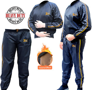 2Fit Sauna Sweat Suit Exercise Gym Track Running Fitness Weight Loss Sauna Bath