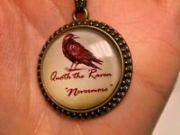 QUOTH THE RAVEN NEVERMORE Black Cord NECKLACE edgar allan poe gothic horror