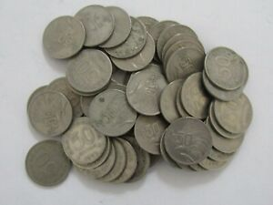 Lot of 50 Old Indonesia 1971 50 Rupiah Coins - Circulated