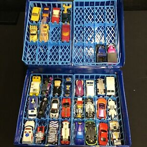 Lot Of 33 Assorted Matchbox And Hotwheel Cars With Case