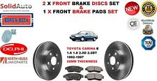 FOR TOYOTA CARINA E 1.6 1.8 2.0D 2.0DT FRONT BRAKE DISCS SET + DISC PADS KIT NEW