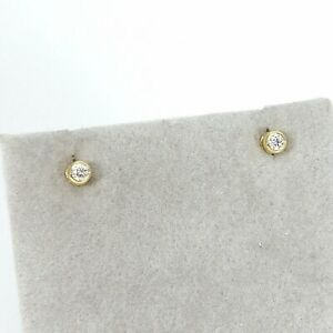 Wert 460 € Solitär Brillant Ohrstecker Ohrringe (0,10 carat) 750er 18 K Gelbgold