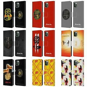 OFFICIAL COBRA KAI GRAPHICS LEATHER BOOK WALLET CASE FOR APPLE iPHONE PHONES
