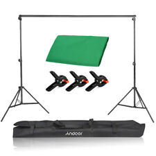 6.6 * 10ft Studio Background Green Screen & Backdrop Support Stand & Clamps Kit