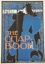 The Chap-Book Blue Lady Vintage Poster Fine Art Lithograph William H. Bradley S2