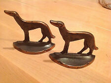 Vintage Set Russian Wolfhounds Bookends made by Conn.Foundry 1929 Bronze?