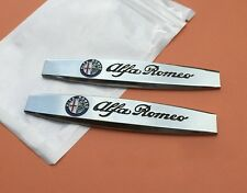 2pc ALFA ROMEO Car Fender Sticker Side Emblem Badge Decal for Giulia Mito 4C 147