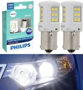 Philips Ultinon LED Light 1156 White 6000K Two Bulbs Stop Brake Rear Replacement